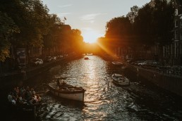 Sunset in Amsterdam, Herengracht