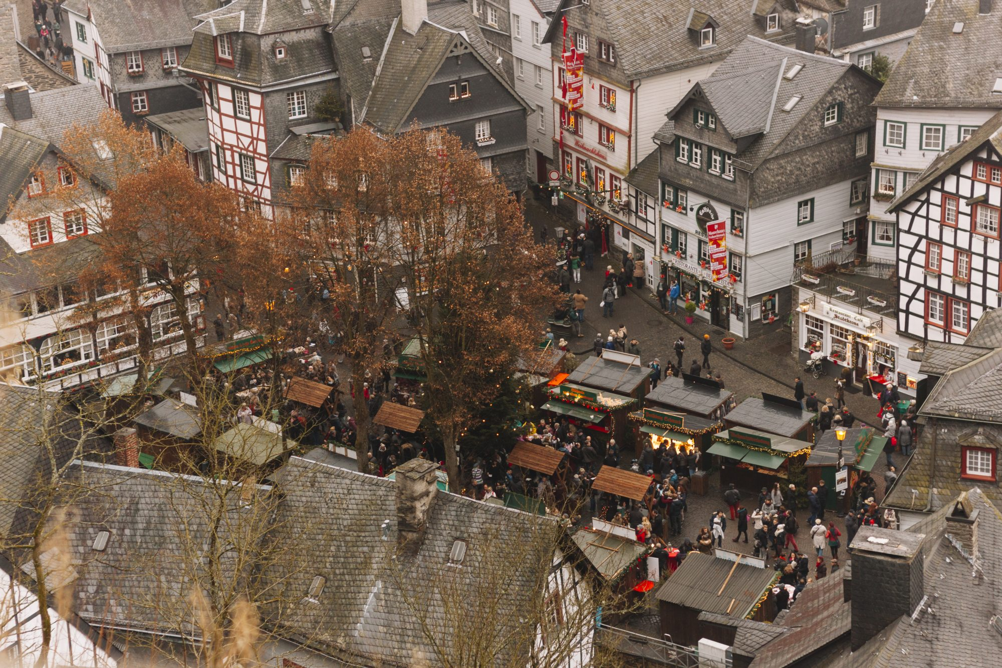The Christmas market from up high