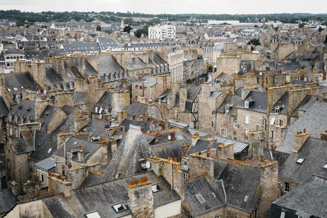 Rooftops of Dinan on an overcast June afternoon