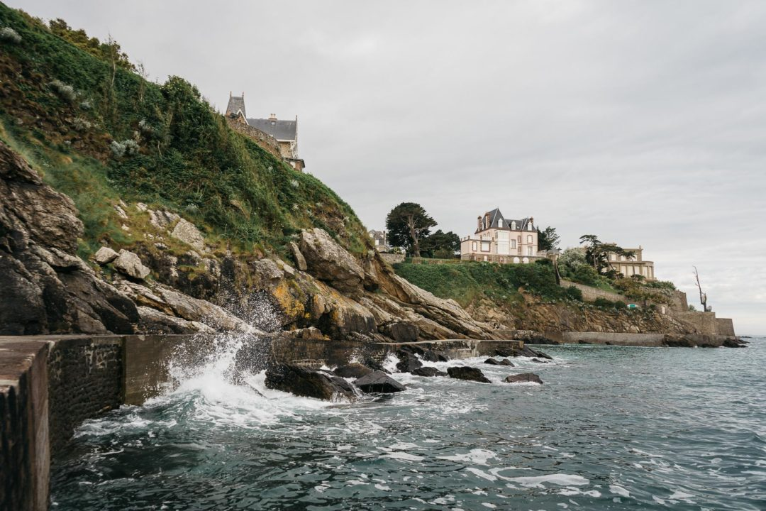 The coast of Dinard in June