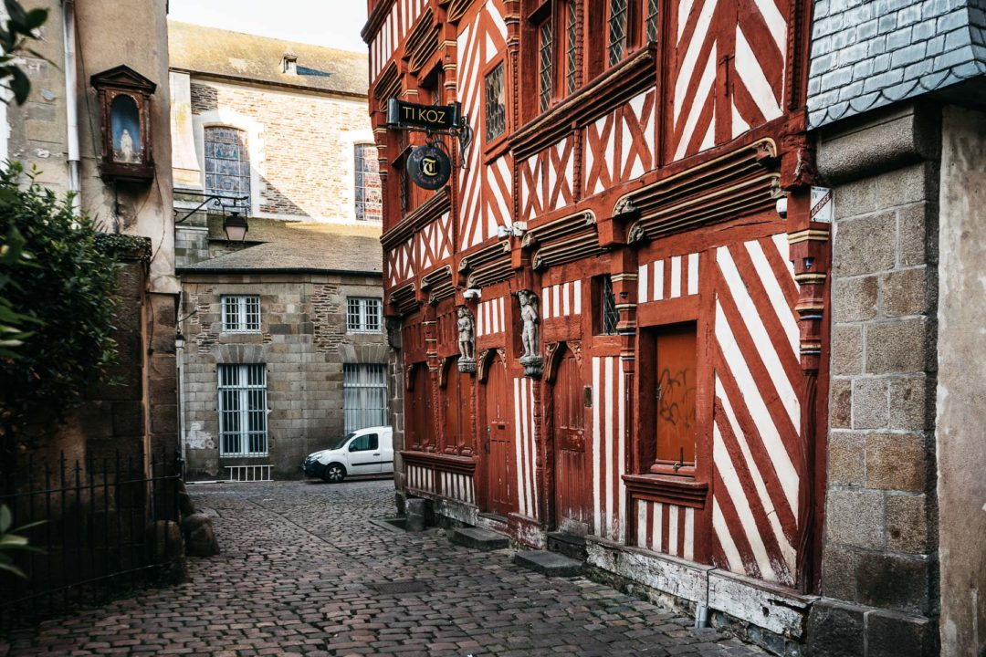 Half-timbered houses of Rennes