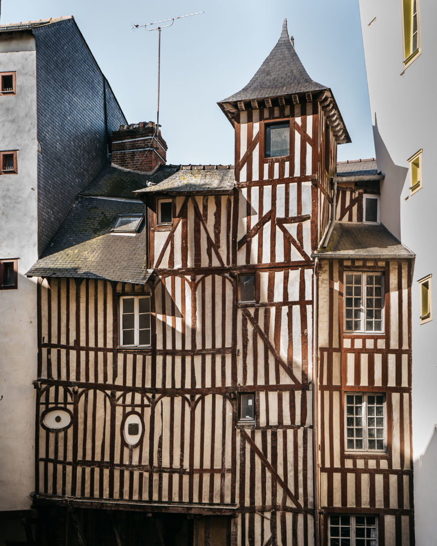 Half-timbered house in Rennes