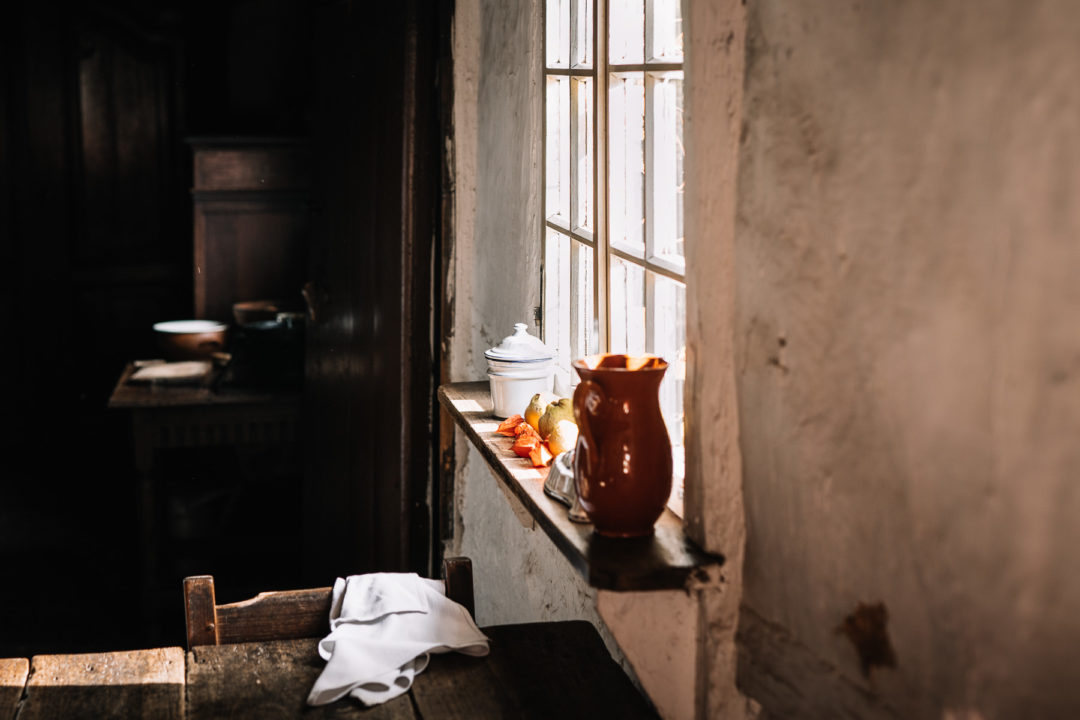 Old farmhouse windowsill in Bokrijk