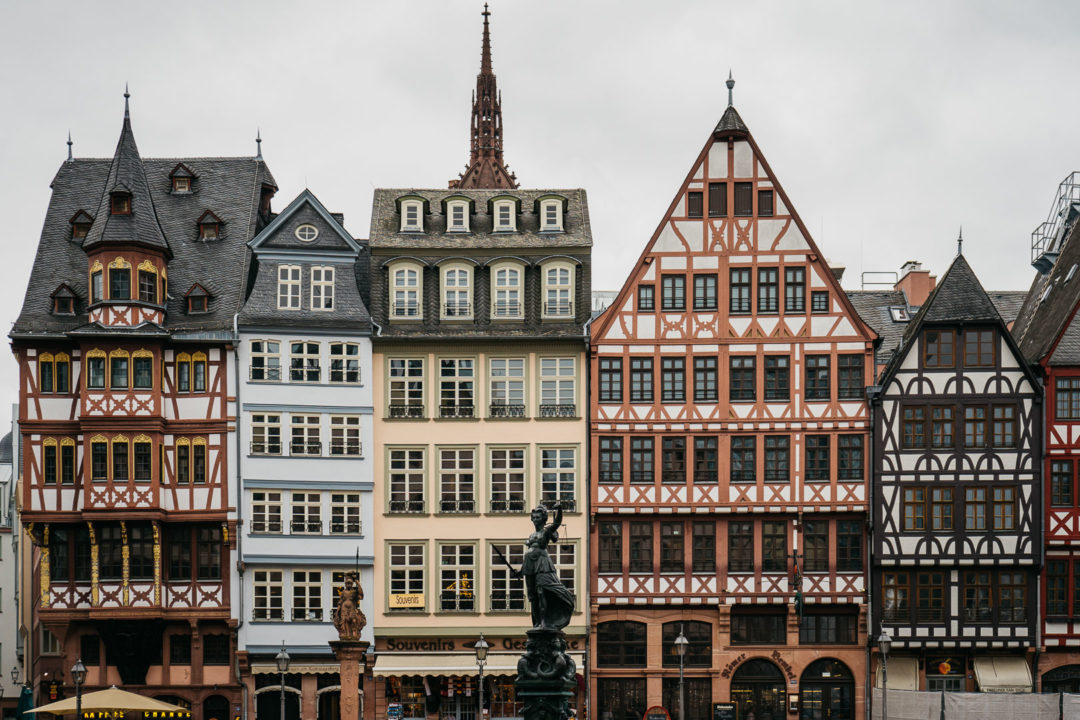 The houses of Frankfurt, Germany