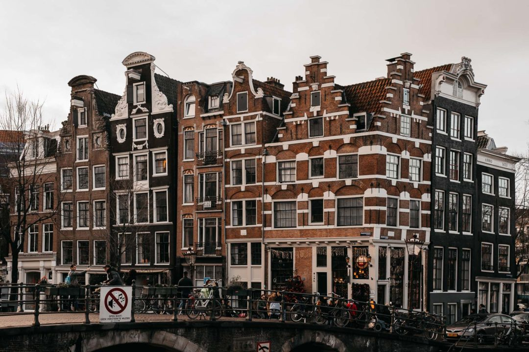 The gingerbread houses of Amsterdam in December