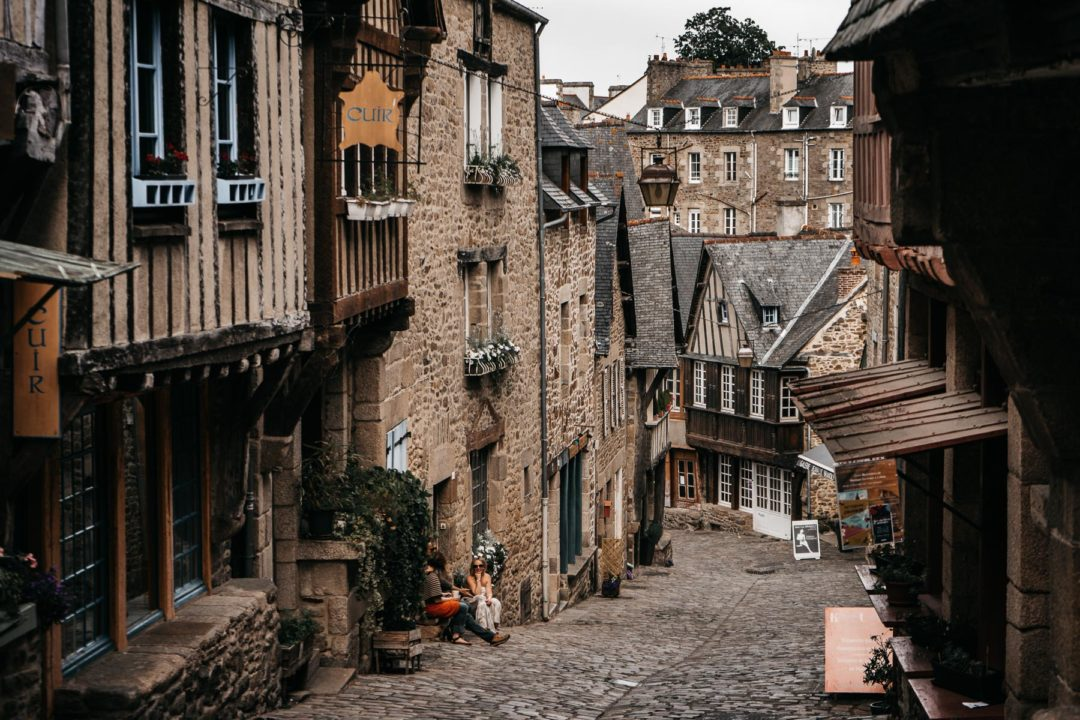 The picturesque village of Dinan, France