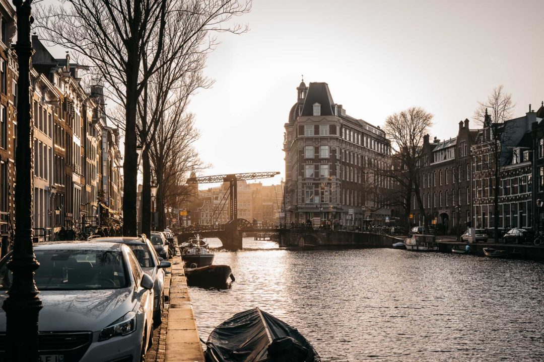 Amsterdam canals in the middle of December