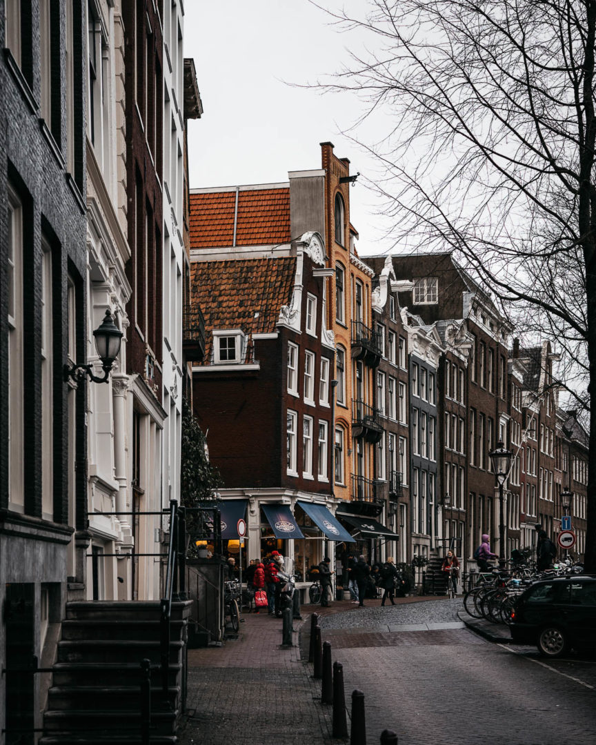 The streets of Amsterdam in December