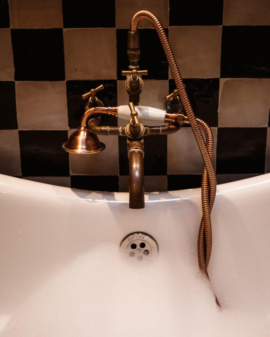 victorian-style albion bathtub at la petite foret