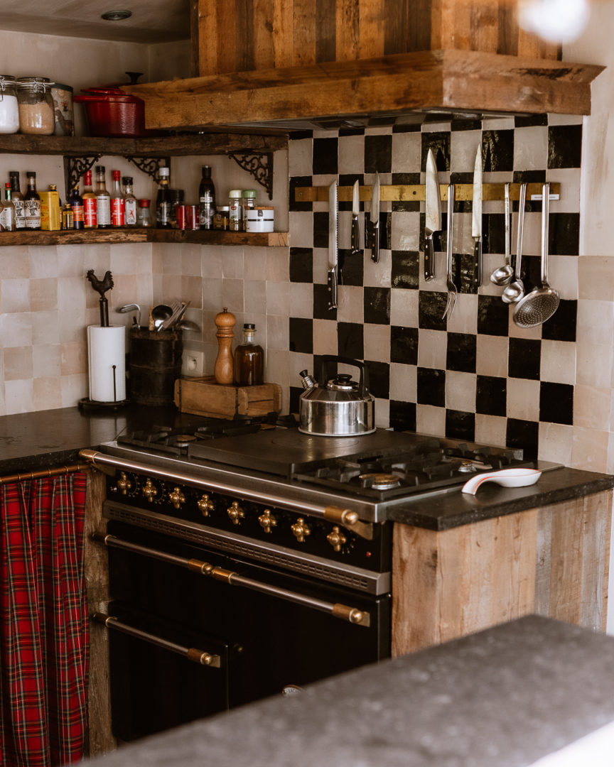 lacanche range cooker in the kitchen at la petite foret