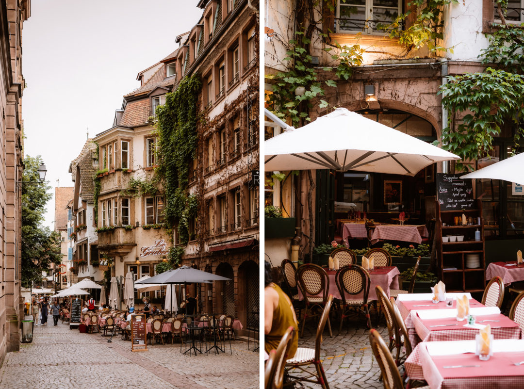 One day in Strasbourg, walking around the streets and restaurants