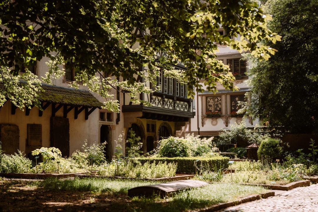 One day in Strasbourg, hidden courtyard