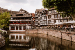 La Petite France, the half-timbered houses of Strasbourg during summer