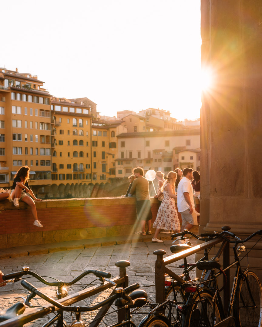 golden hour sunset in florence
