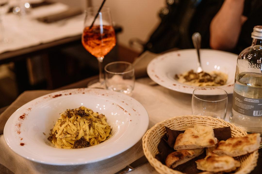 truffle pasta at cacio & pepe in florence