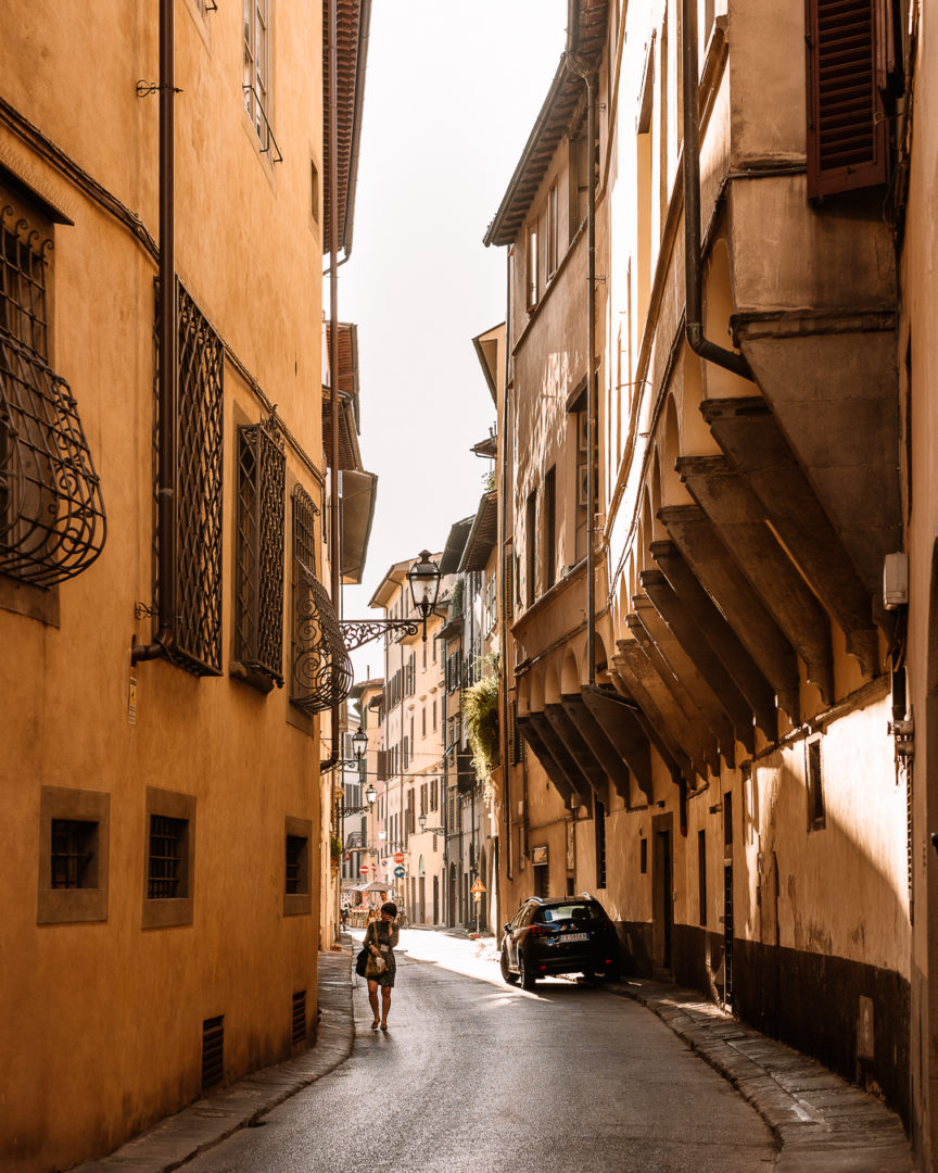 sunny street in florence